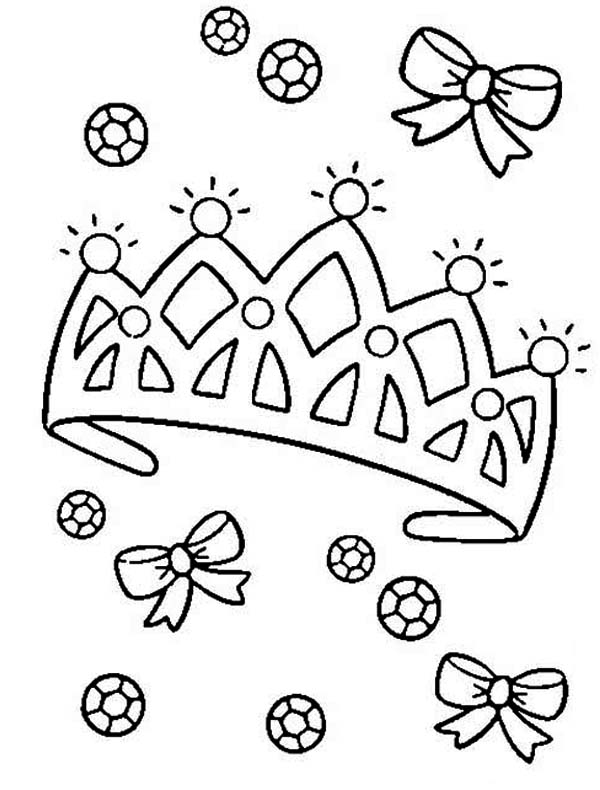 Princess Tiara Coloring Pages Coloring Home Tiara Coloring Page