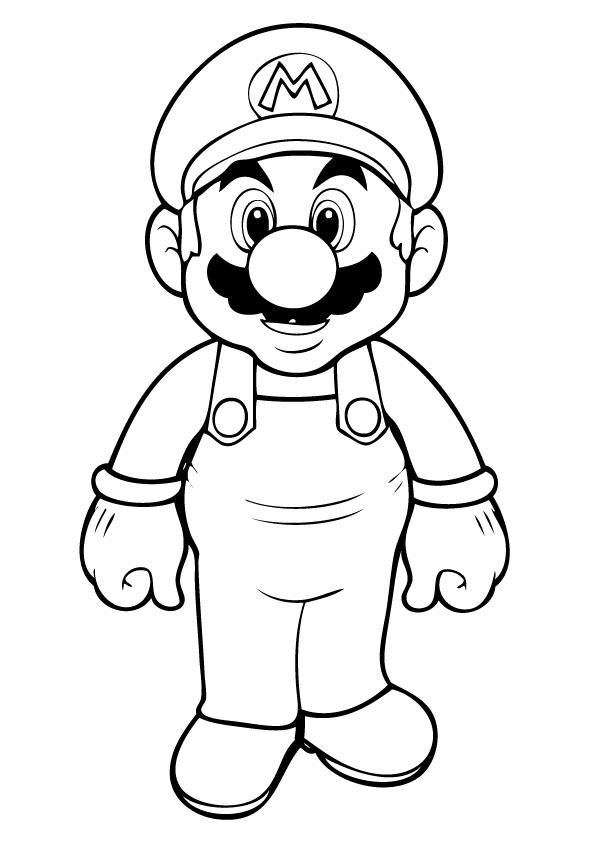 Mario Kart Coloring Pages Luigi Mario Favoloso