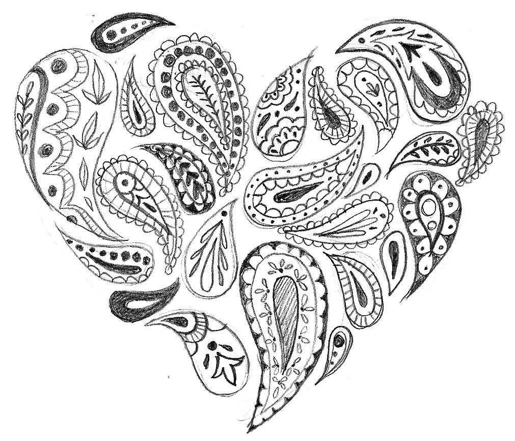 Adult coloring pages paisley coloring home for Paisley print coloring pages