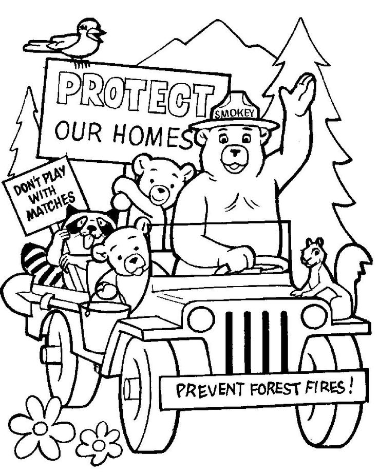 Fire Prevention Week Coloring Pages - Coloring Home