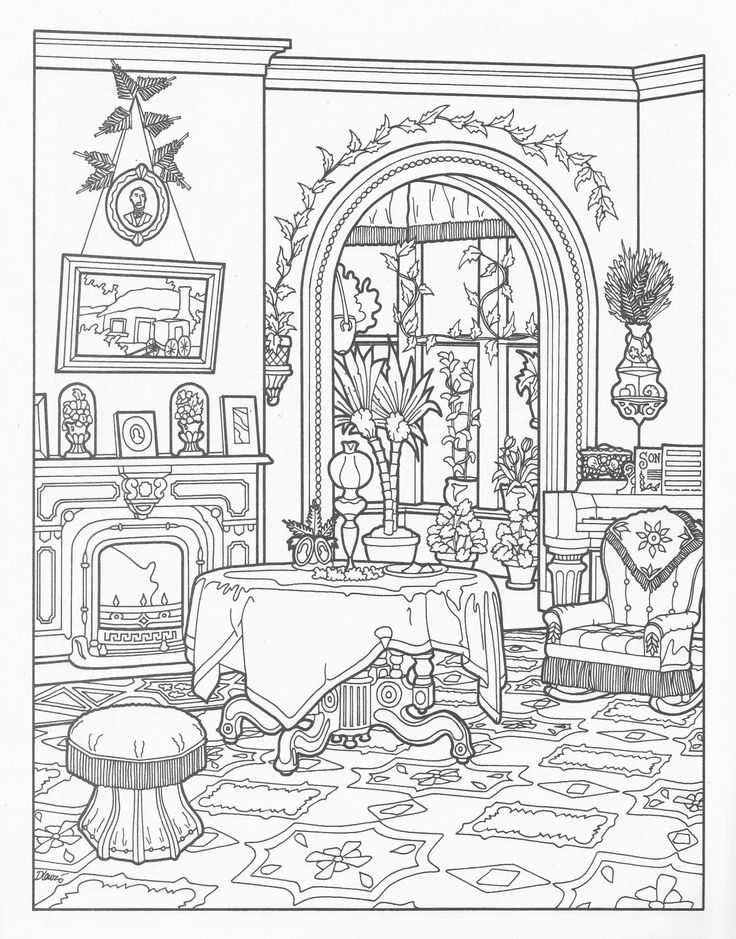 victorian mansion coloring pages - photo#5