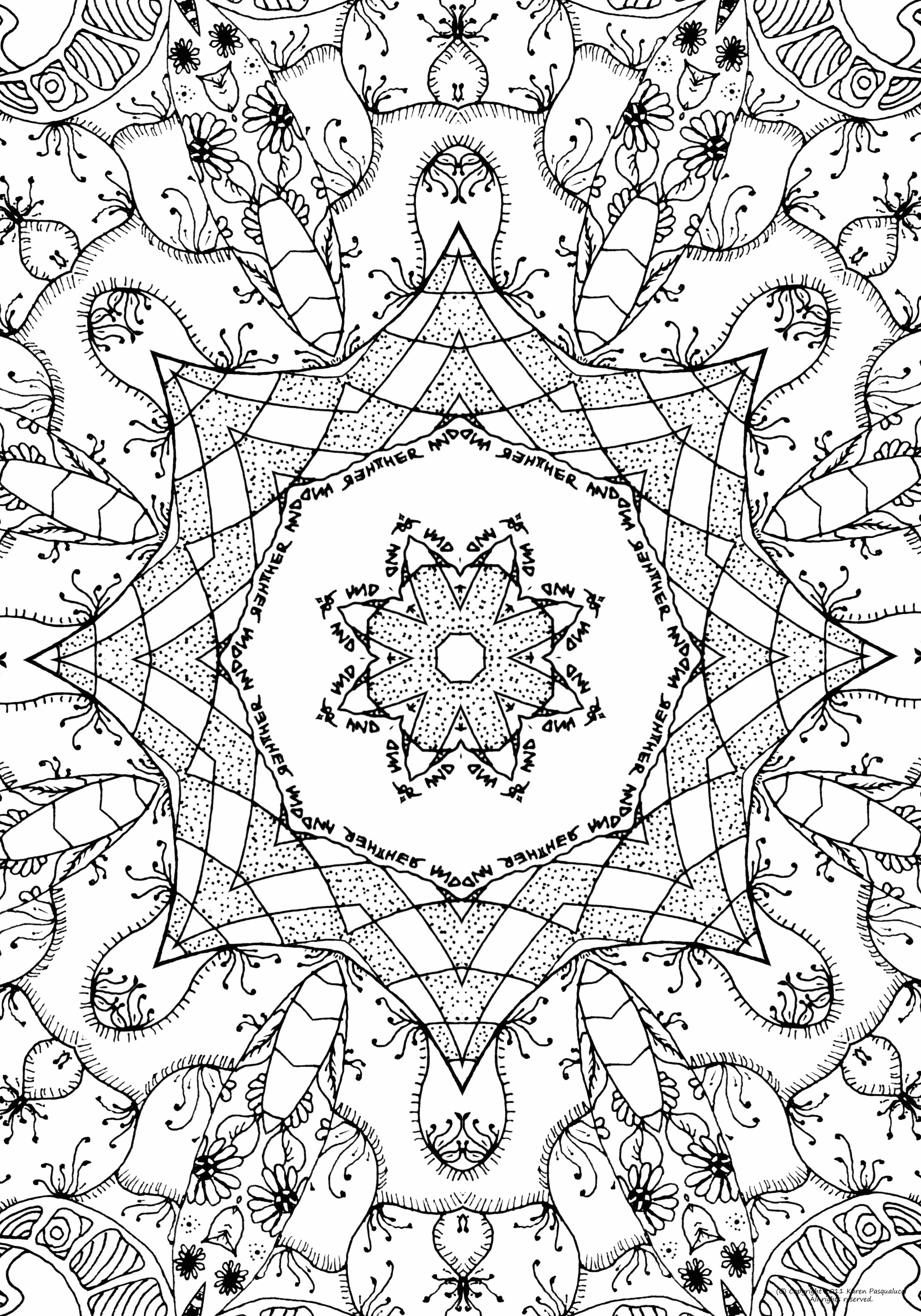 Abstract Coloring Pages Full Page