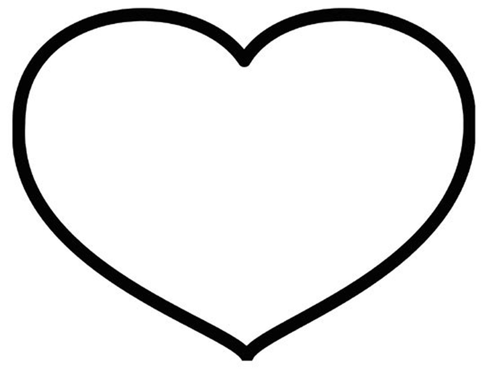 Heart Print Out Coloring Pages