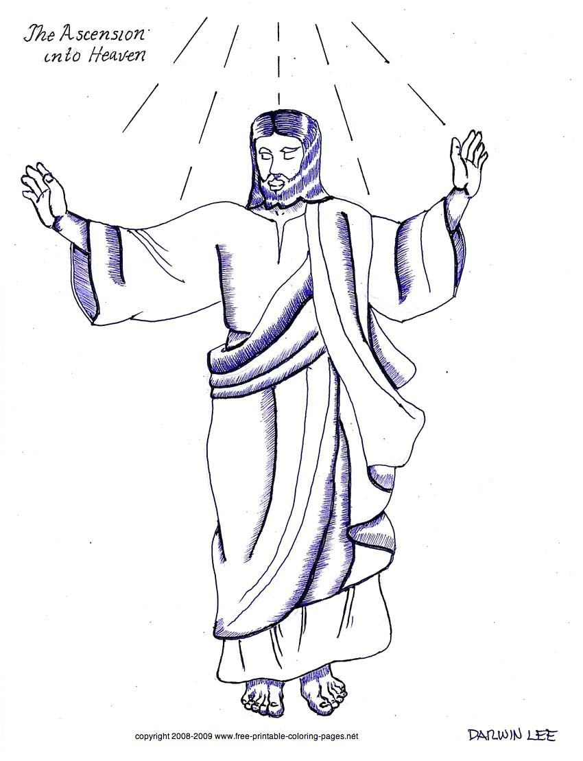 clipart of jesus ascending to heaven - photo #27