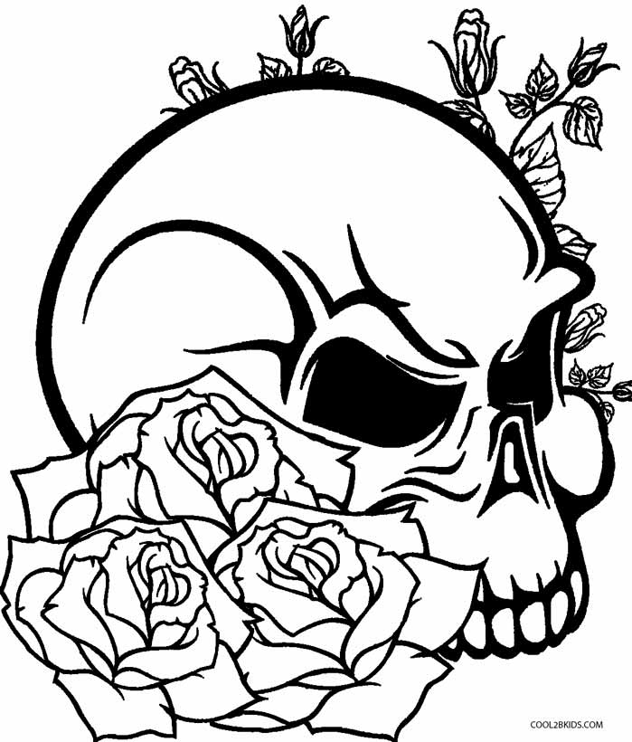 Easy Coloring Pages Pdf : Easy way to color skull coloring pages toyolaenergy