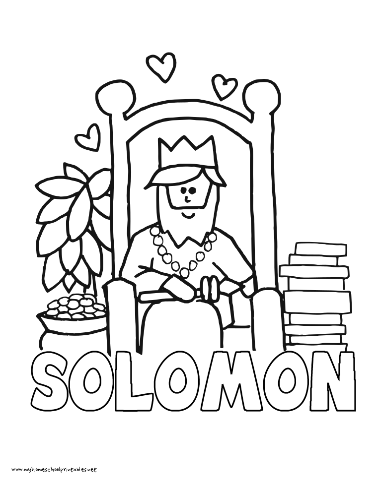 King Solomon Coloring Home