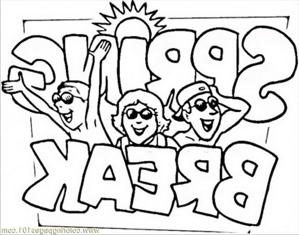 Spring Break Coloring Pages Coloring