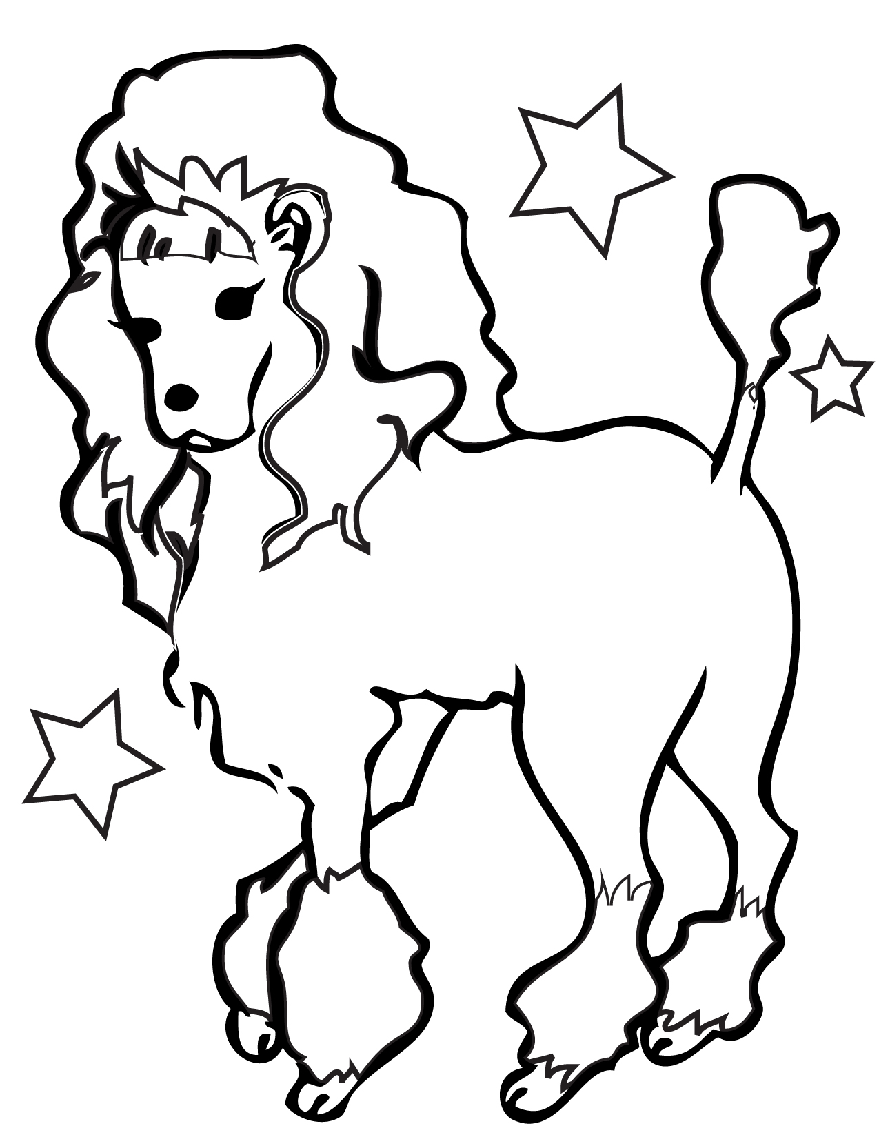 Free Poodle Coloring Pages Az Coloring Pages Coloring Page Of A