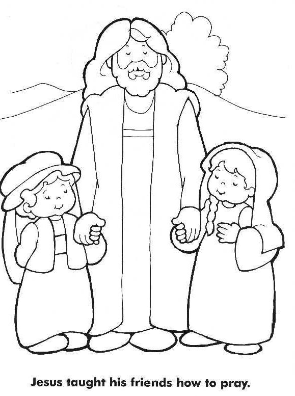 Jesus Loves The Little Children Coloring Pages Coloring Home Jesus And Children Coloring Page