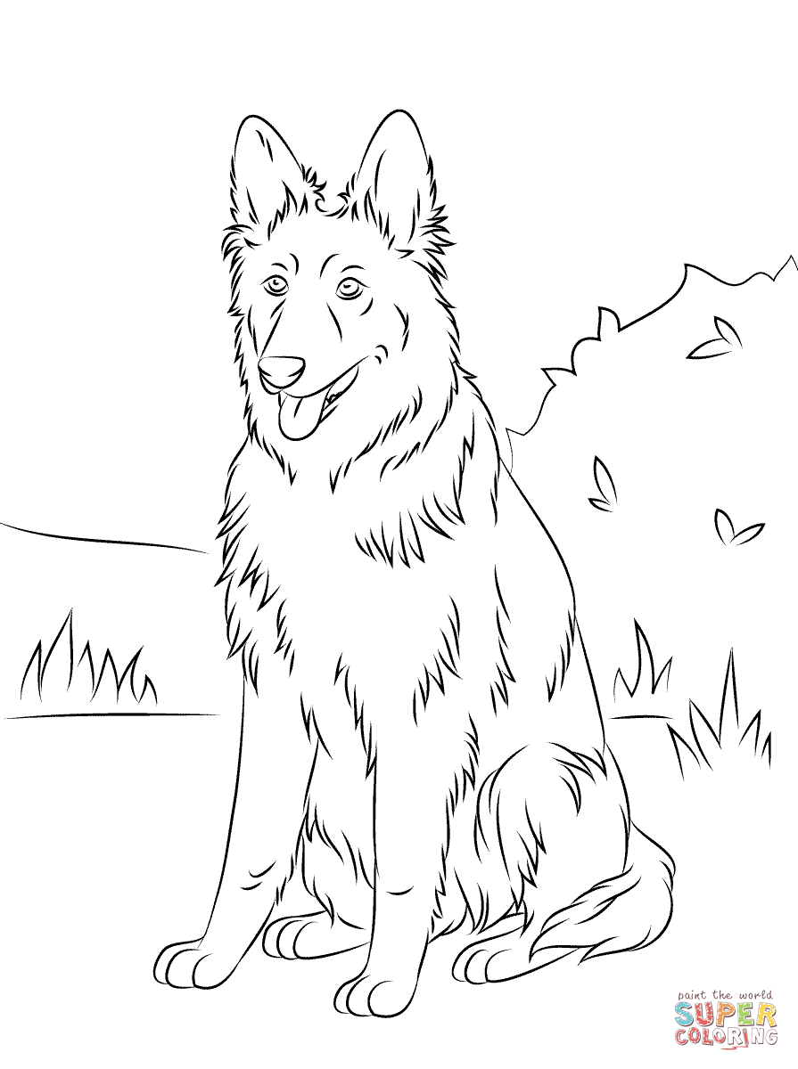 German shepherd coloring coloring home for German shepherd coloring pages printable