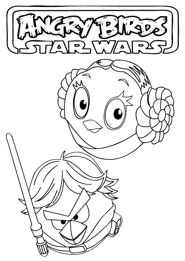 Angry Birds Star Wars Coloring Sheets Coloring Home