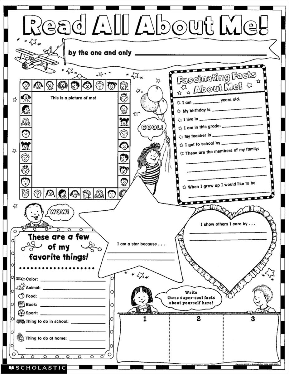 All About Me Coloring Pages on Emotions Dice Editable Text