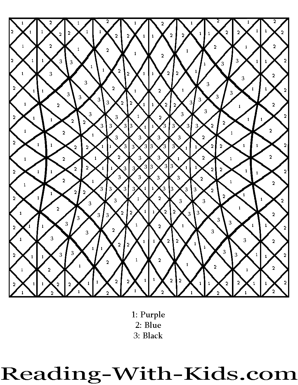 Difficult color by number printables az coloring pages for Printable color by number pages