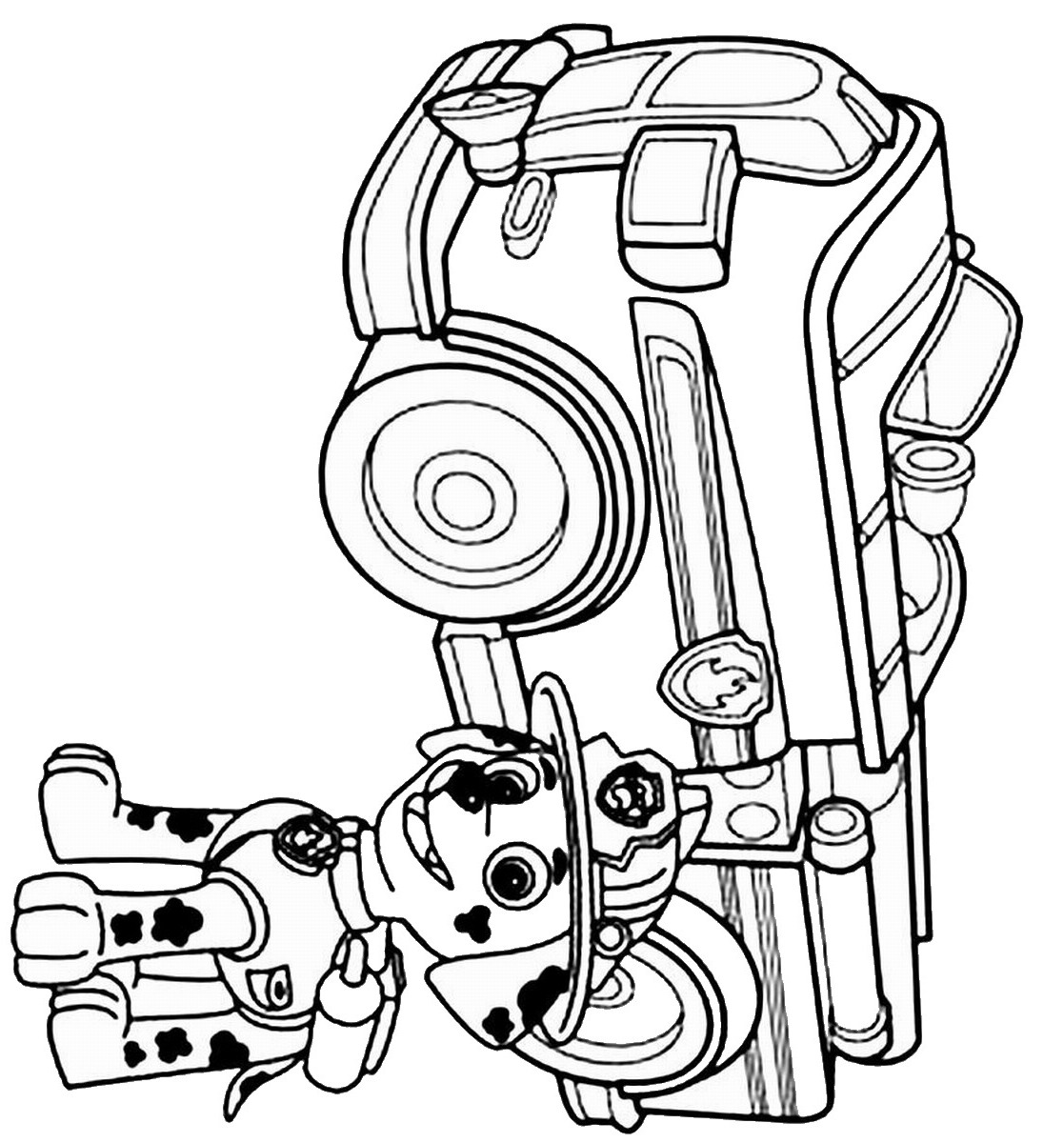 - Paw Patrol Coloring Pages Marshall And Firetruck - Coloring Home