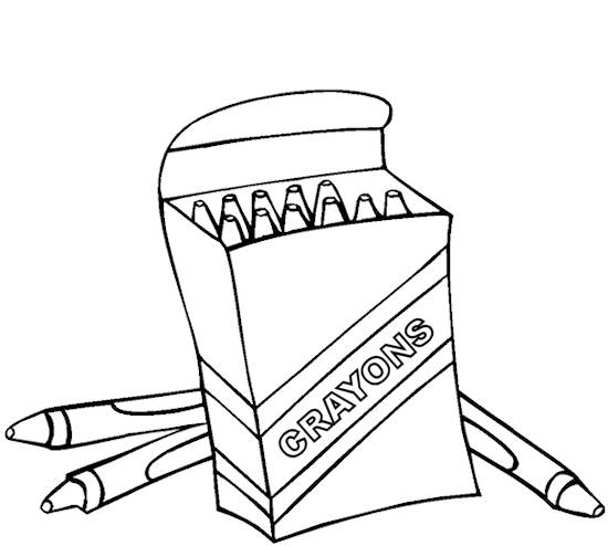 Crayons Coloring Page Coloring Home