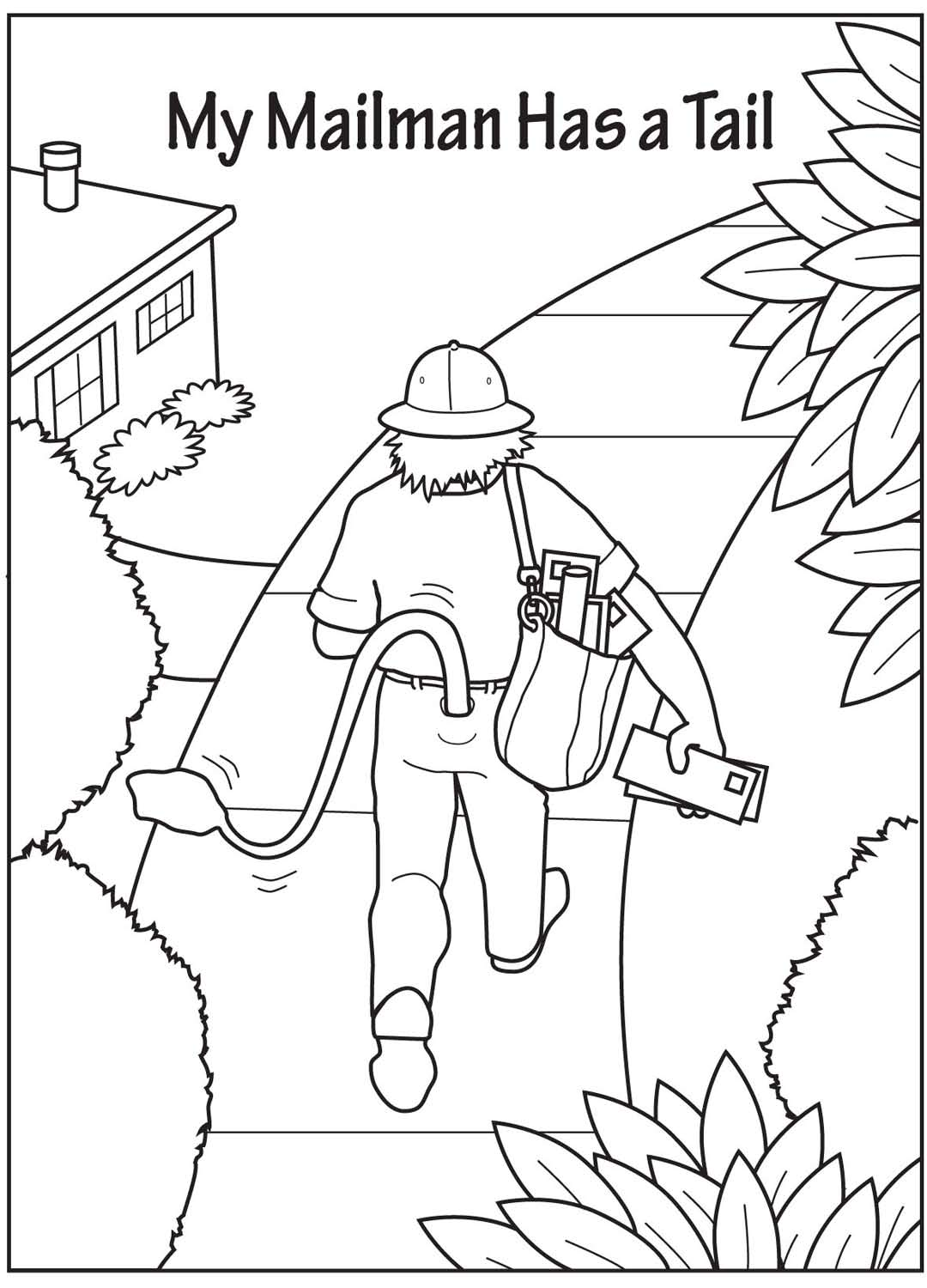 mailman coloring pages for toddlers - photo#16