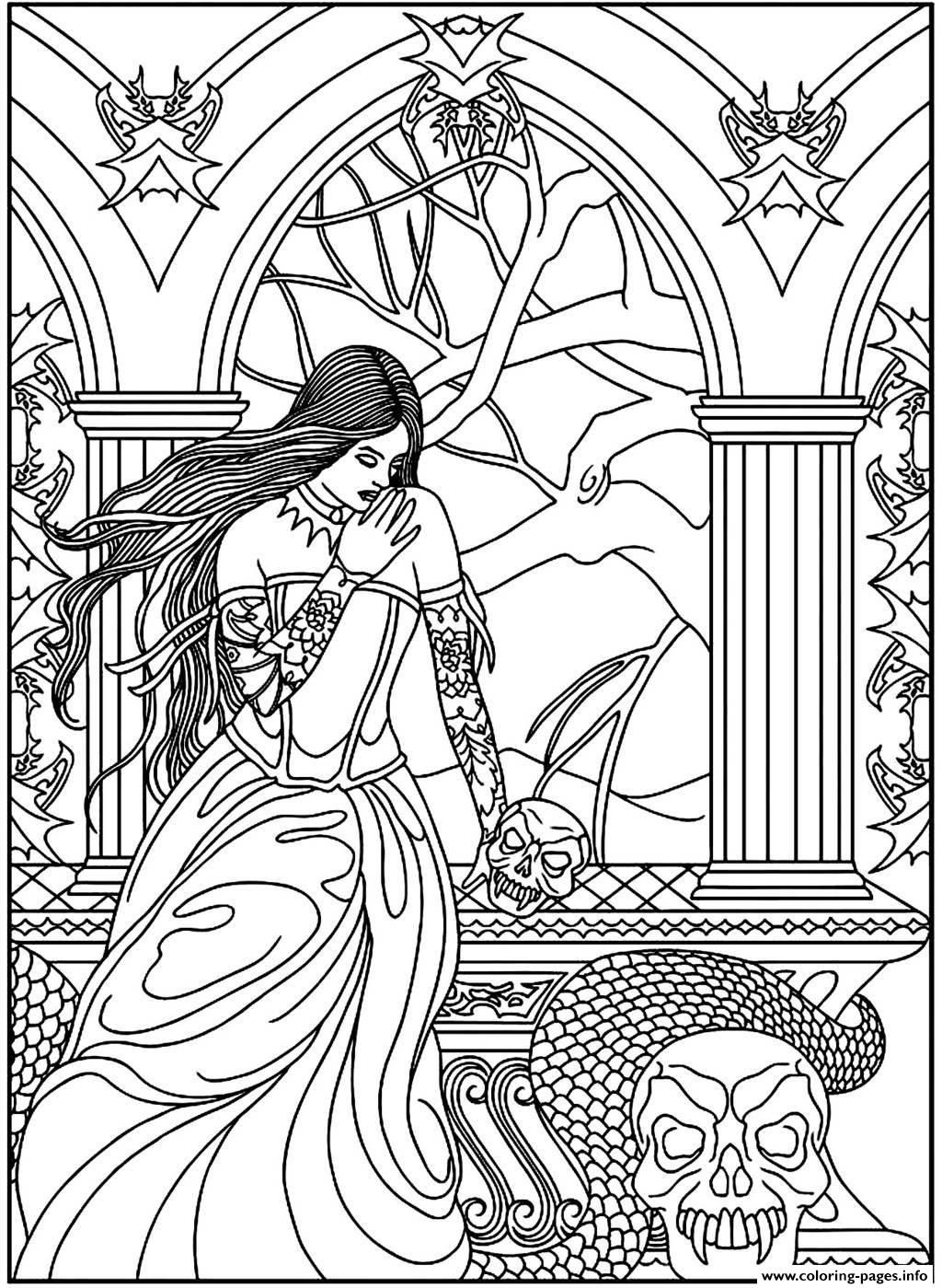Fantasy Adult Coloring Pages - Coloring Home