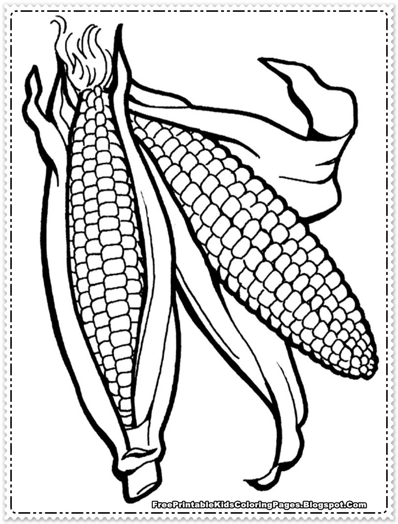 Corn Cob Coloring Page Az Coloring Pages Corn Cob Coloring Page
