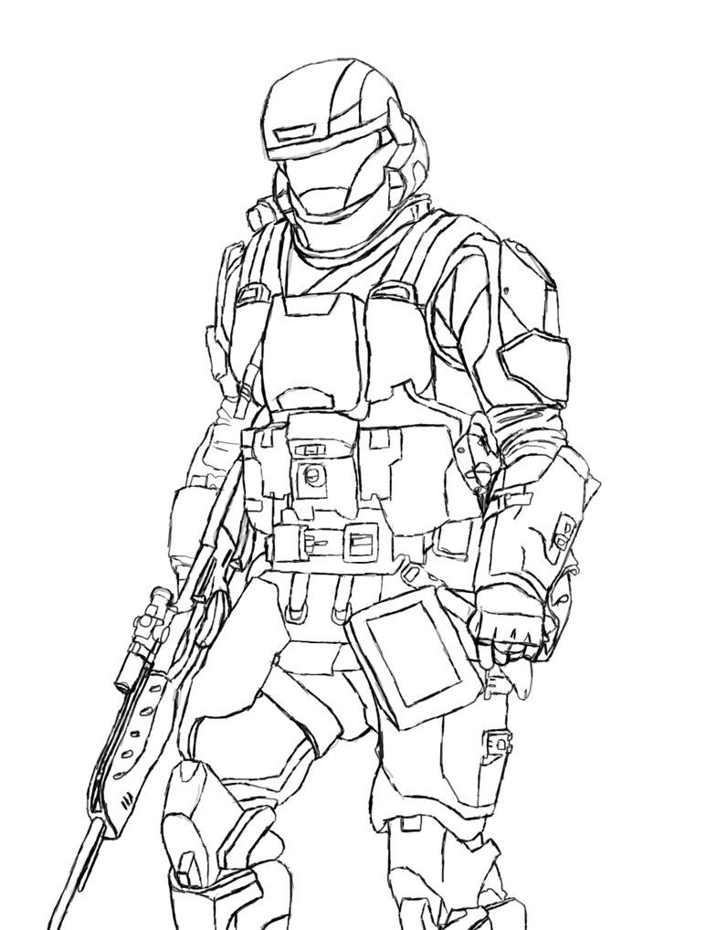 halo 3 odst coloring pages - photo#16
