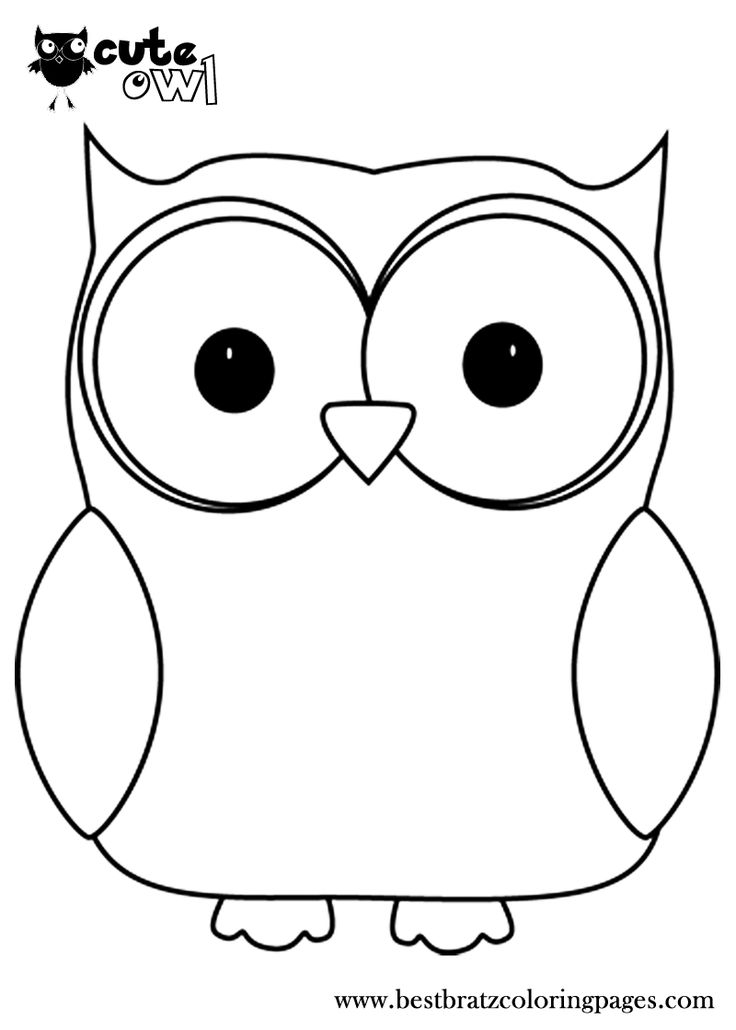 Cute Owl Coloring Pages - Coloring Home
