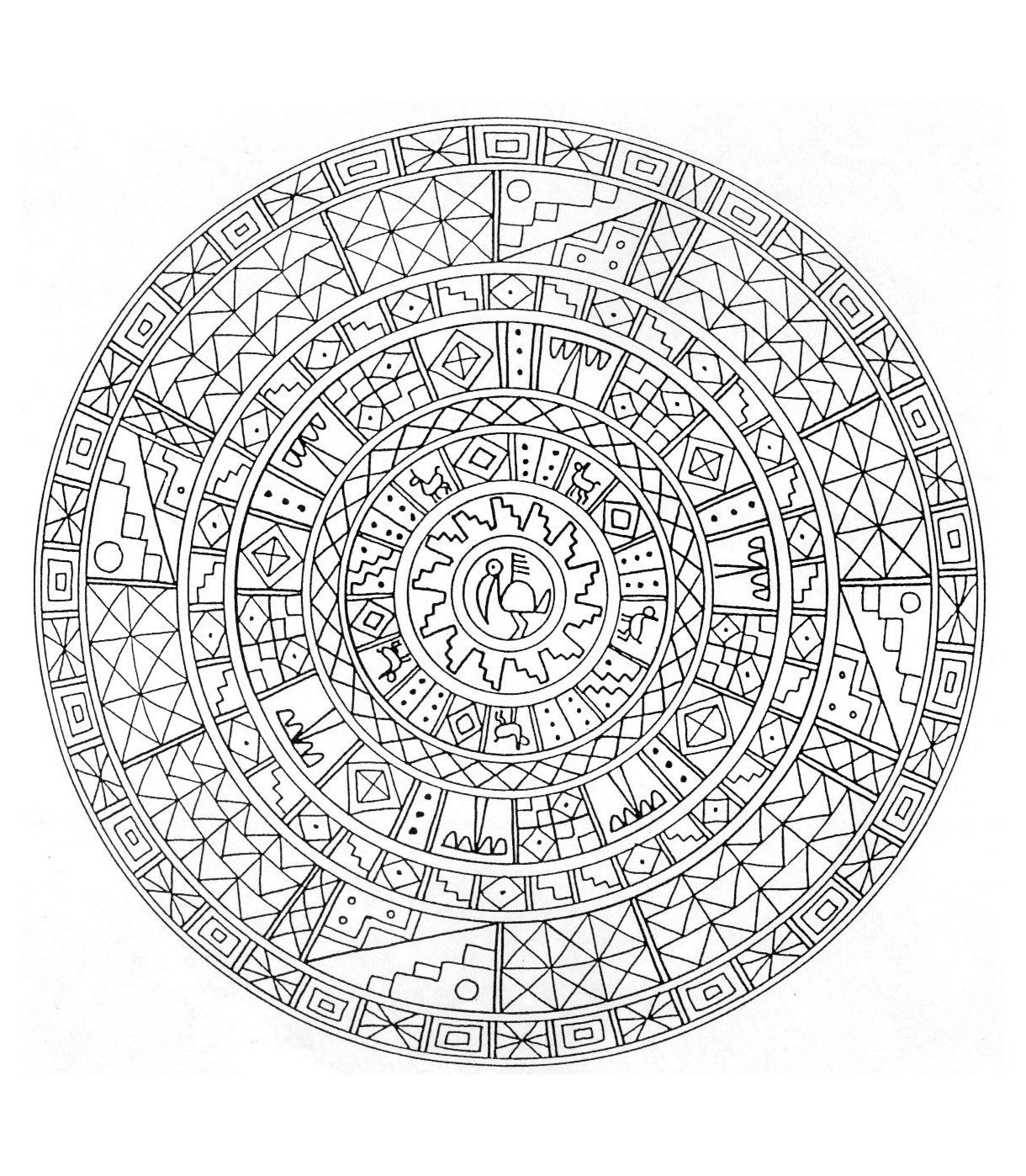 difficult mandala coloring pages - photo#14