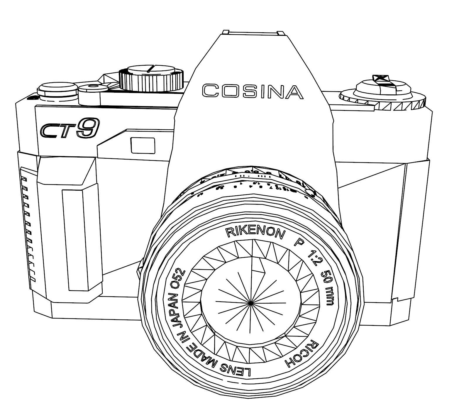 Camera Coloring Page AZ Coloring