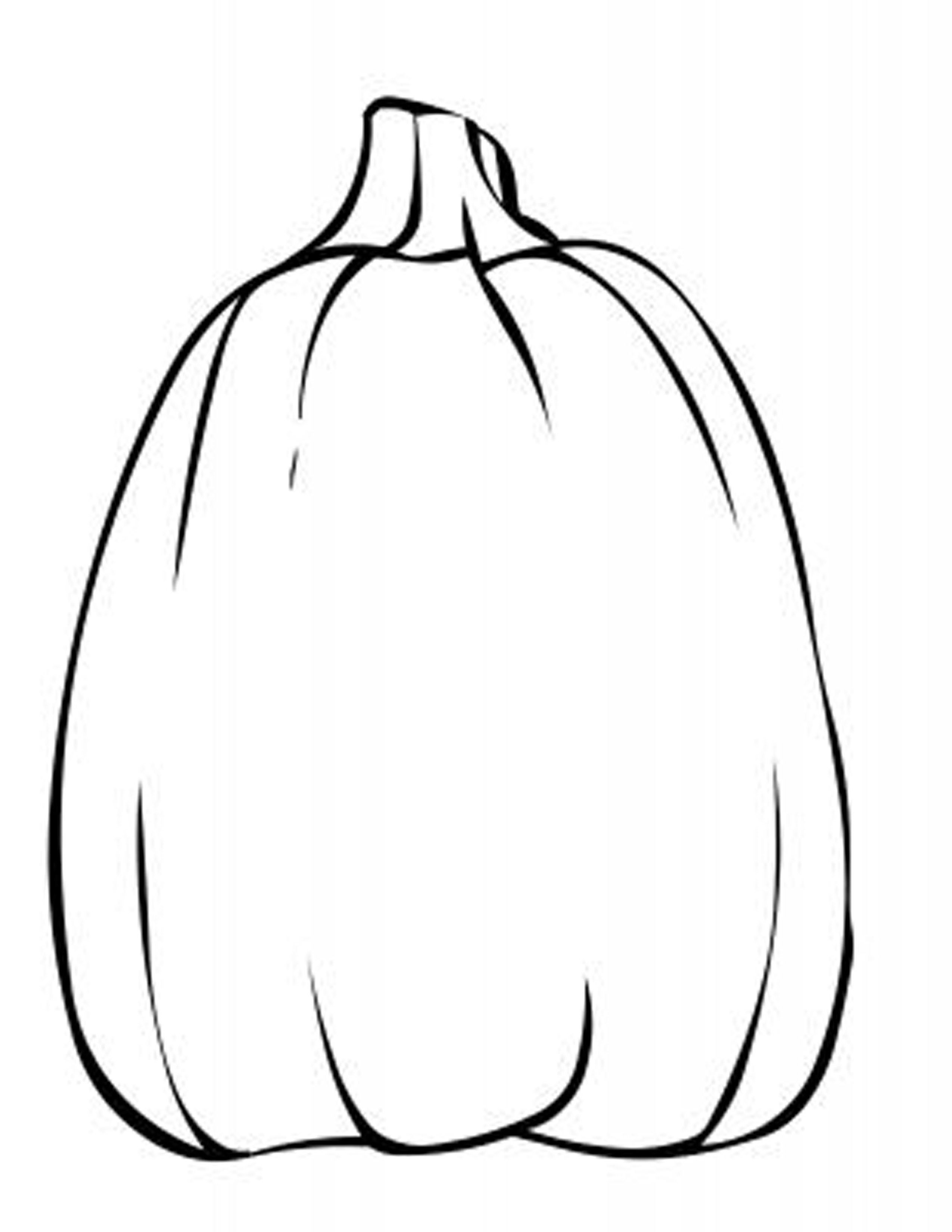 Blank pumpkin template coloring home for Coloring pages pumpkin free