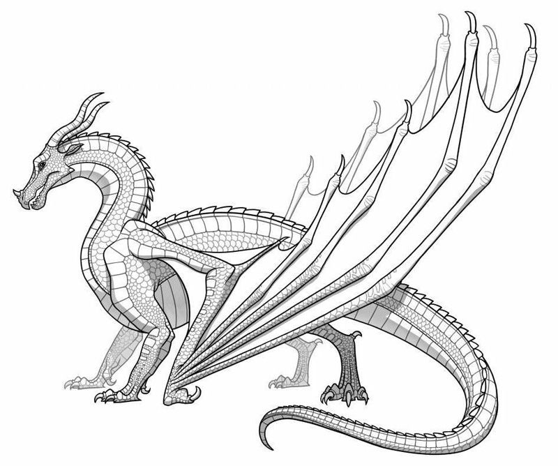 Warriors Fire And Ice Word Count: Detailed Dragon Coloring Pages