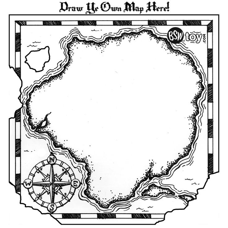 Treasure Map Coloring Pages For Kids - Ccoloringsheets.com ... | 736x736