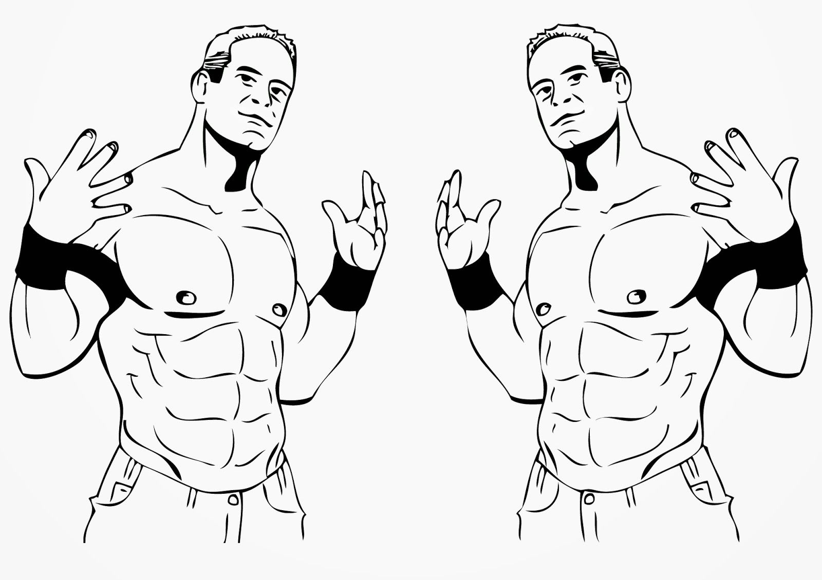 John Cena Coloring Page - Coloring Home