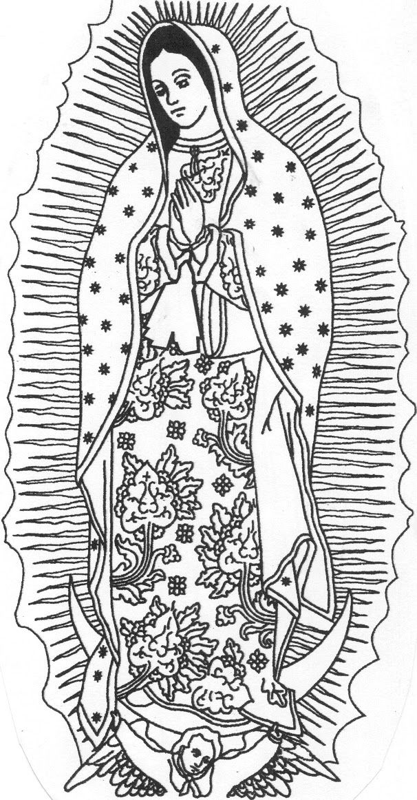 Printable Coloring Pages Virgin Mary : La Virgen De Guadalupe Coloring Pages AZ Coloring Pages