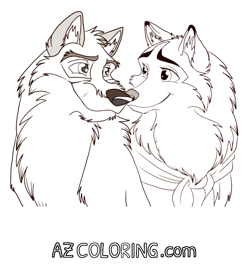 balto coloring pages online - photo#28