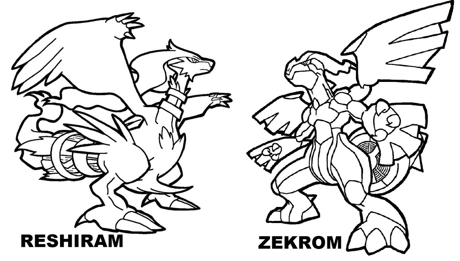 Pokemon coloring pages of zekrom - Free Legendary Pokemon Coloring Pages For