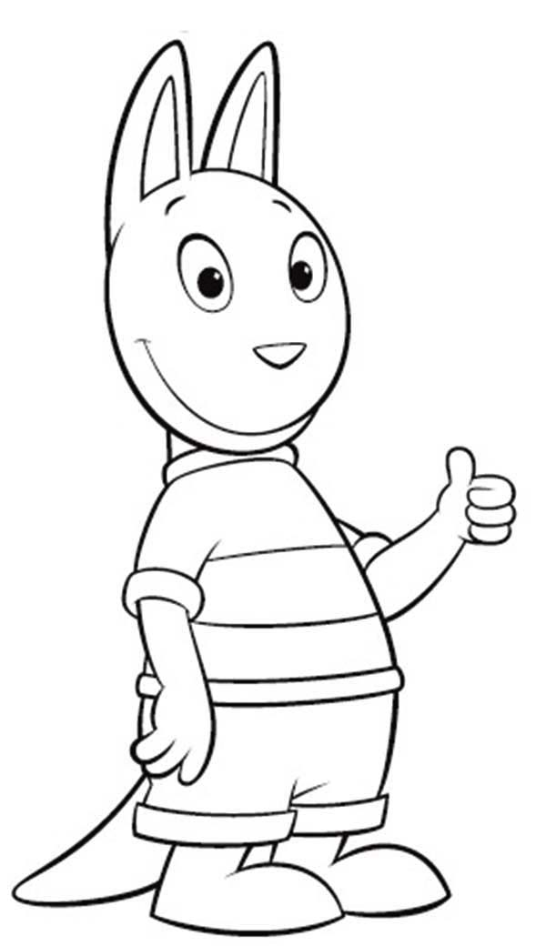 backyardigans coloring pages austin | Austin Say Its Ok In The Backyardigans Coloring Page ...