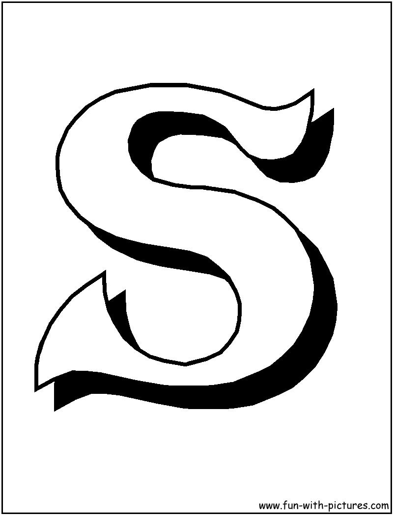 Letter S Coloring Page AZ Coloring