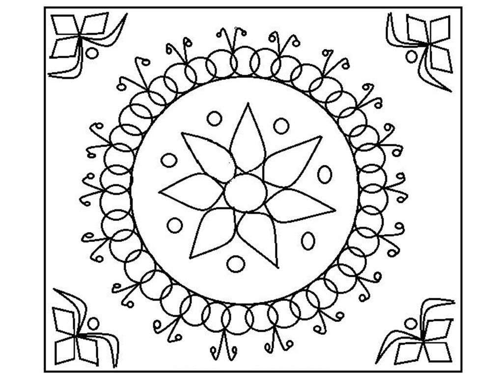 rangoli coloring pages for diwali pictures | Diwali Coloring Pages - Coloring Home