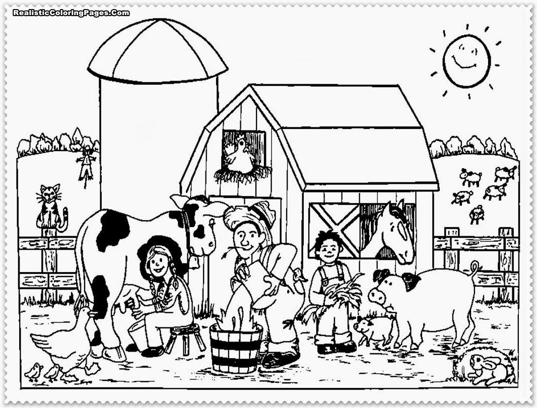Barn and farm animal coloring pages - Printable Coloring Pages Animals Farm High Quality Coloring Pages