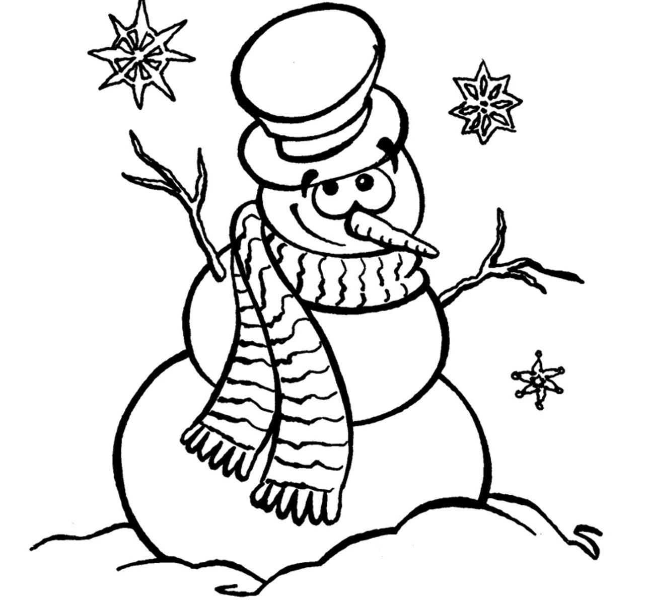 Frosty coloring page coloring home for Coloring pages of snowman