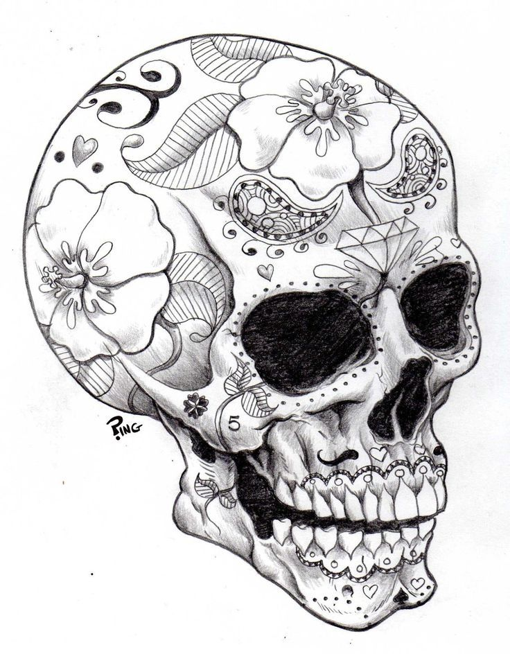 Skull Coloring Pages For Adults - Coloring Home