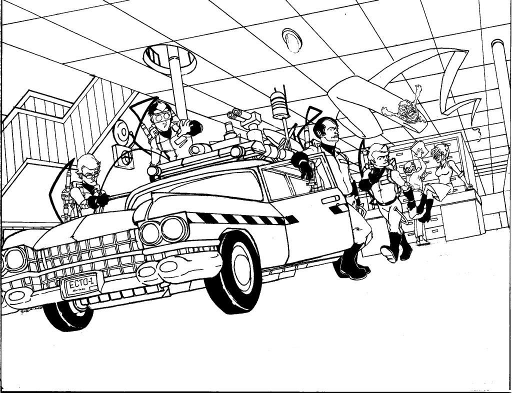 Free Coloring Page For Kids Ghostbusters Coloring Pages