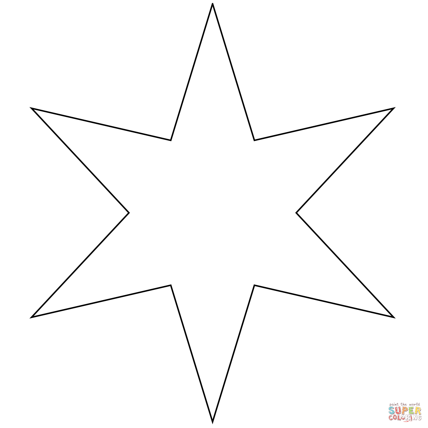 star coloring pages free printable pictures