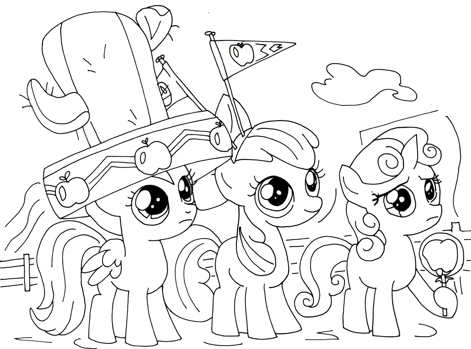 My Little Pony Coloring Pages Hd : Applejack my little pony coloring pages home