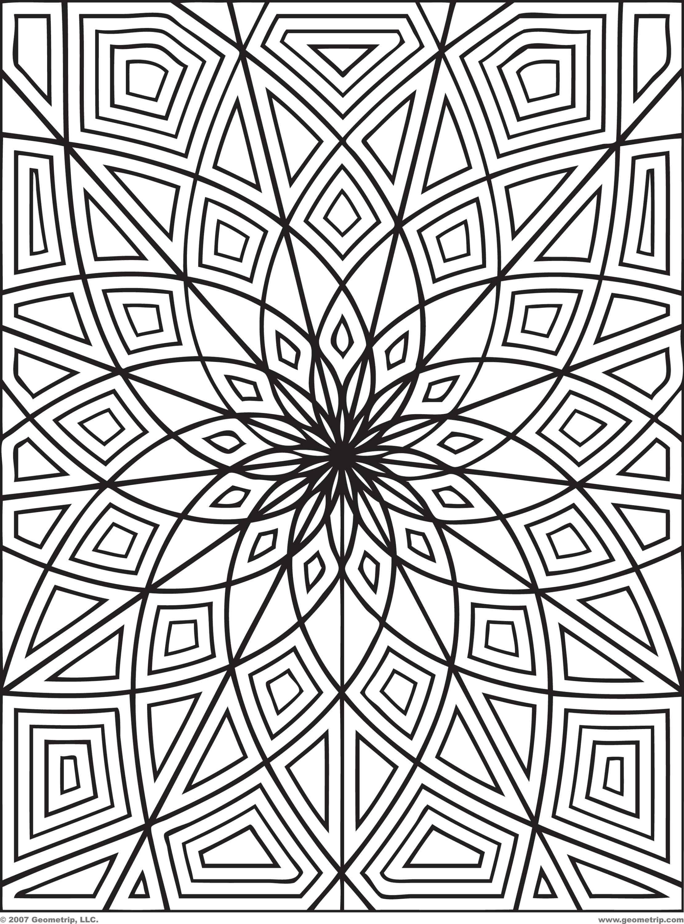 Adult Cute Geometric Flower Coloring Pages Images best adult pattern coloring pages printable for all ages images