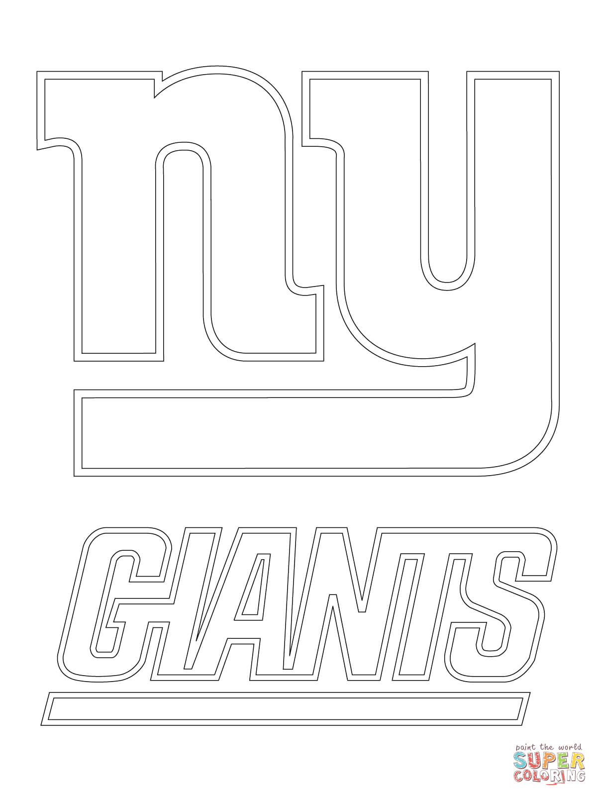 ny giants coloring pages - photo#2