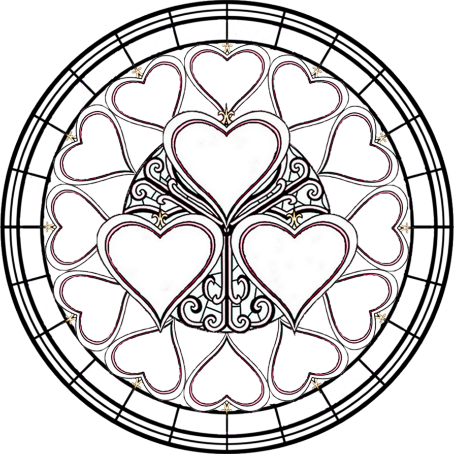 religious stained glass coloring pages - photo#16