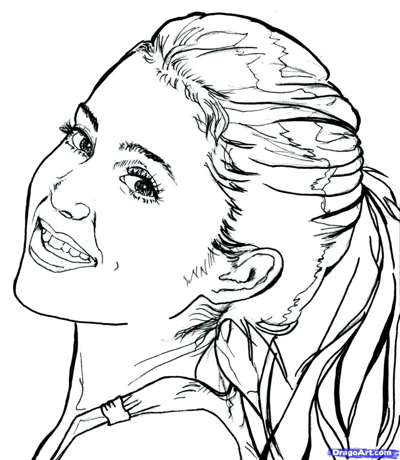 Adult Beauty Victorious Coloring Pages Gallery Images beauty ariana grande coloring pages games printable for happy birthday free chainimage por gallery images