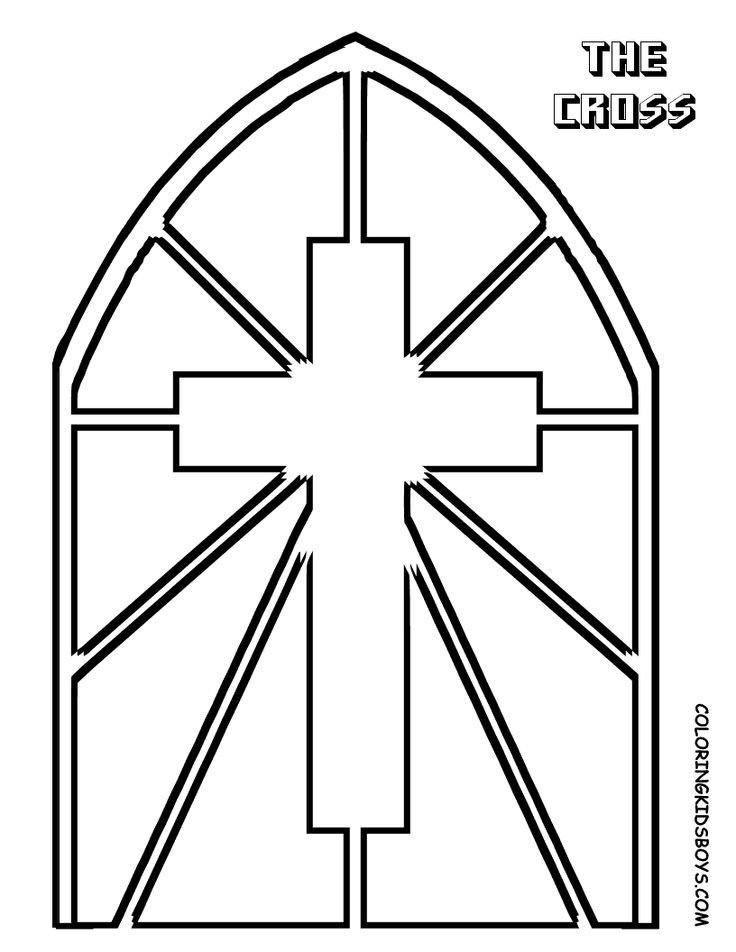 simple stained glass coloring pages - photo#34