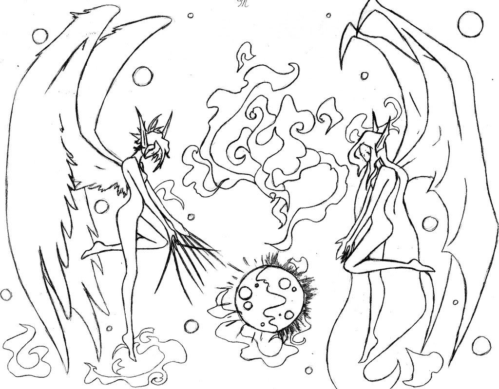Anime Angel Coloring Pages To Print