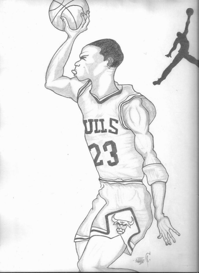 michael jordan coloring pages free - photo #42