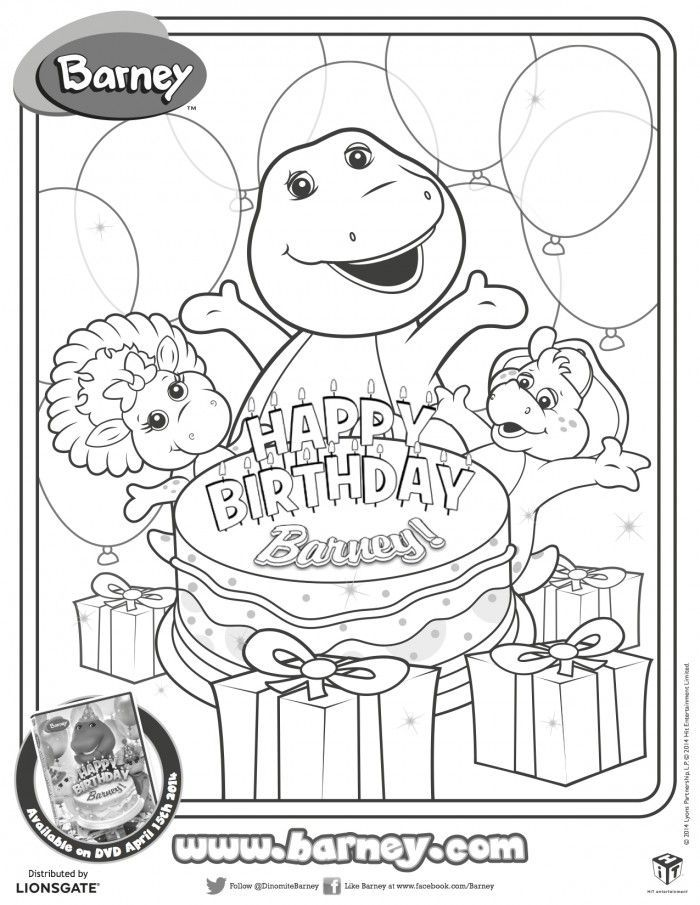 Coloring Pages Birthday Decorations